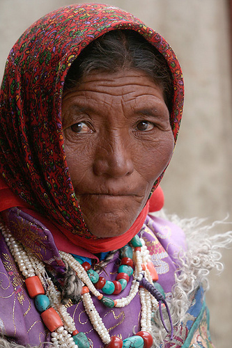 A woman from Ladakh