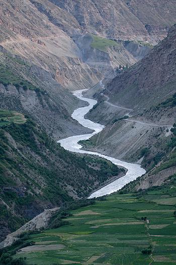 Bhaga River Valley at Keylong