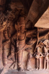 Vamana statue in Caves of Badami