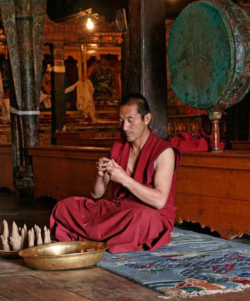 A Lama at thiksey monastery