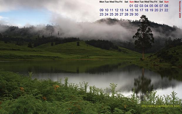 november 2009 calendar  wallpapers