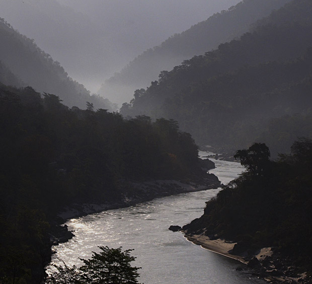 Valley of River Ganges near Rishikesh