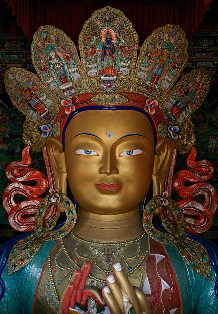 maitreya buddha statue in Thiksey