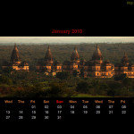 January 2010 Desktop Calendar Wallpaper