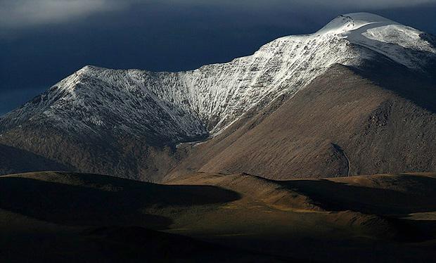 snowy peaks of Ladakh near Tso Moriri