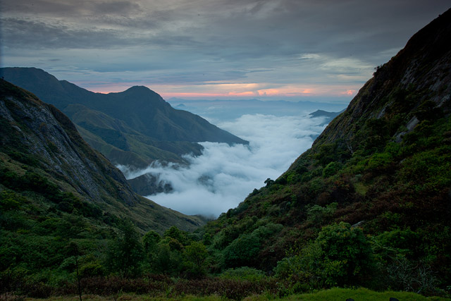 clouds and hills of munnar