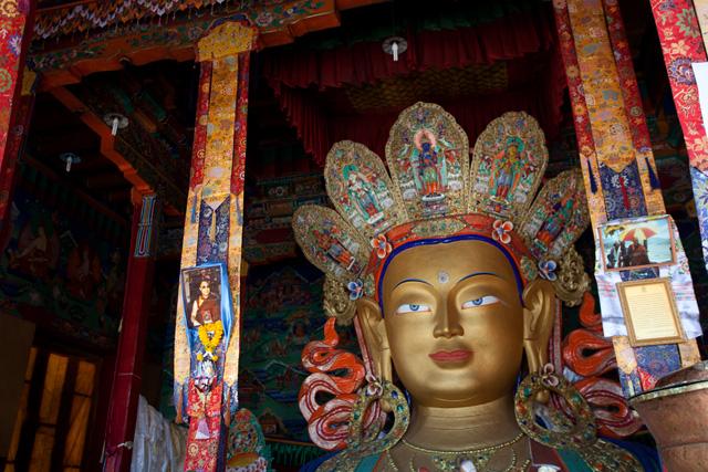 buddha statye at thiksey