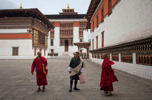 Monks at Thimphu, BHutan