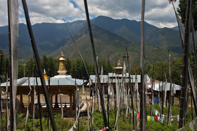 Prayer Flags at Paro, Bhutan