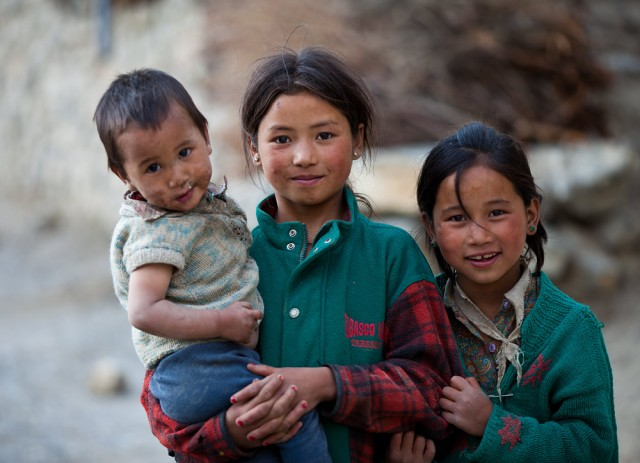 children of Spiti Valley