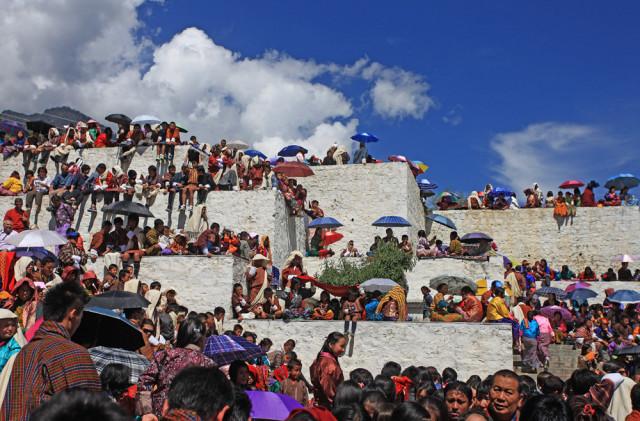 thimphu tsechu, a festival in bhutan