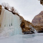 Daily Photo: A Frozen Waterfall seen during Chadar Trek