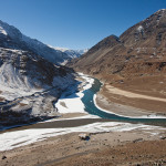 Confluence of River Indus and Zanskar at Nimu, Ladakh