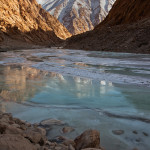Winter in Ladakh: A Frozen Indus River