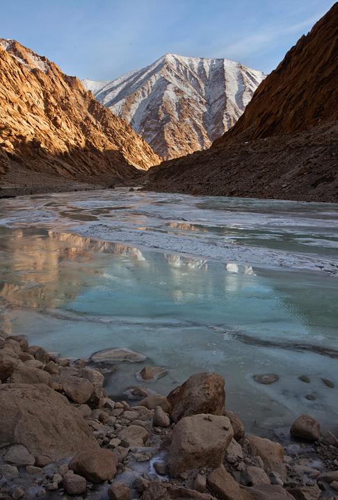 A frozen Indus river, Ladakh