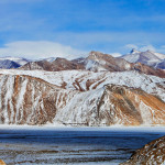 Frozen Pangong Lake