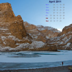 April 2011 Desktop Calendar Wallpaper