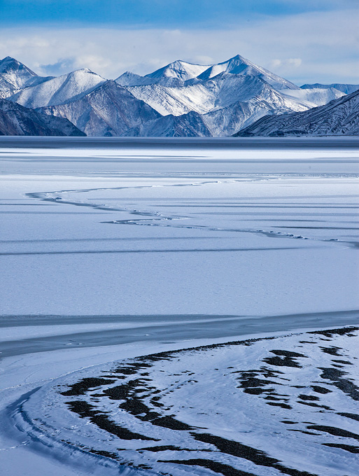 Pangong Lake in Winter