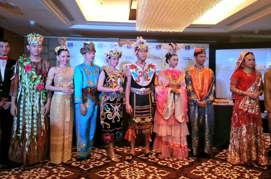 Rich colourful costumes from Malaysia