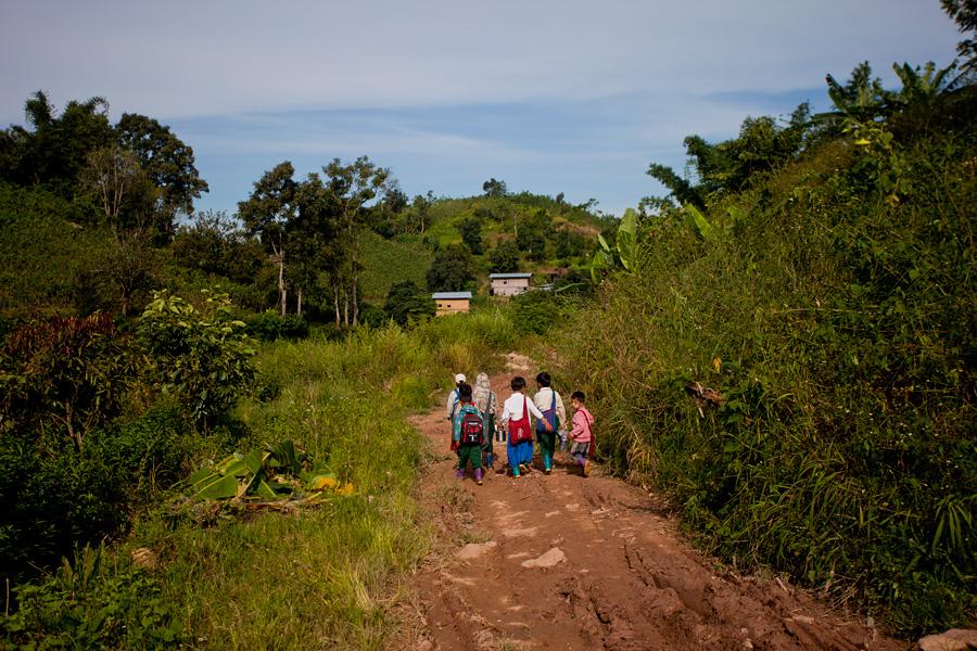 A village near Inle Lake, Myanmar