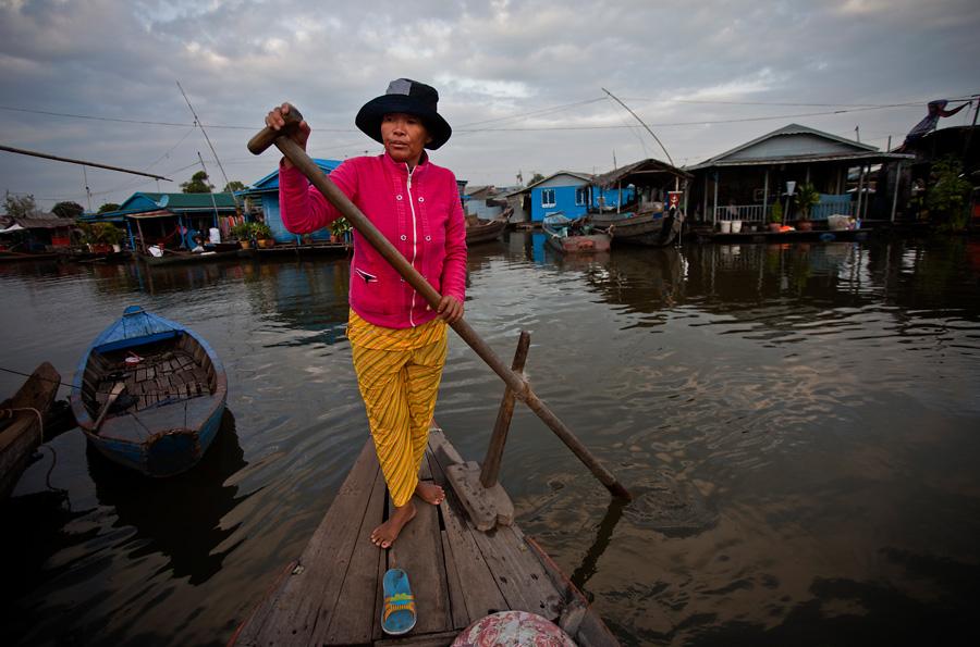 Floating Village at Kampong Chhnang, Cambodia