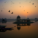 Sunrise at Gadisar Lake, Jaisalmer, Rajasthan