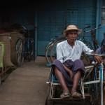 A trishaw at Bago Market