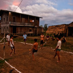 Playing Kick Volleyball in Myanmar