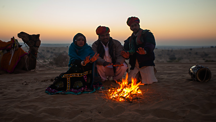 Sunrise in the deserts of Rajasthan