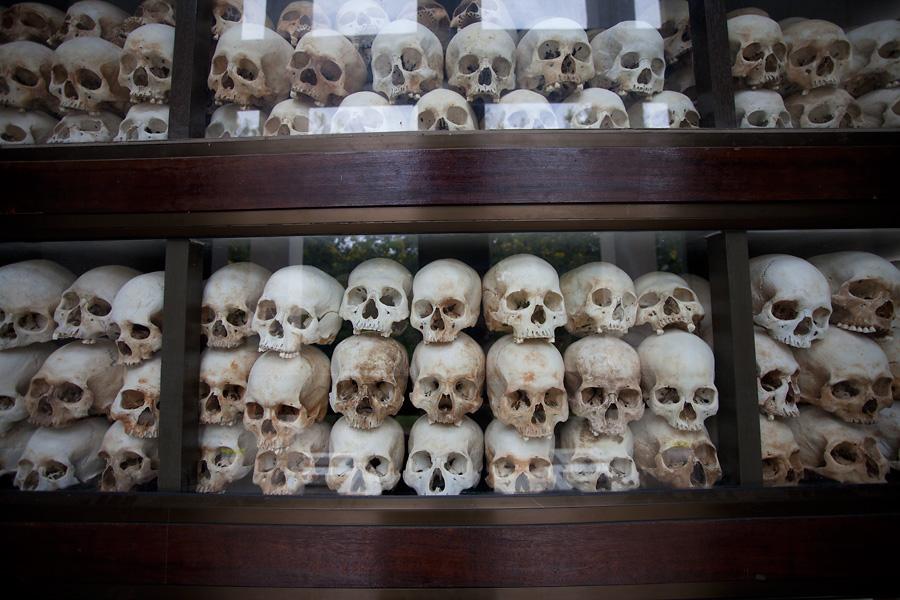Skulls at Choueng Ek Killing Fields
