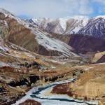 Image: Indus River in Ladakh, partially frozen in winter