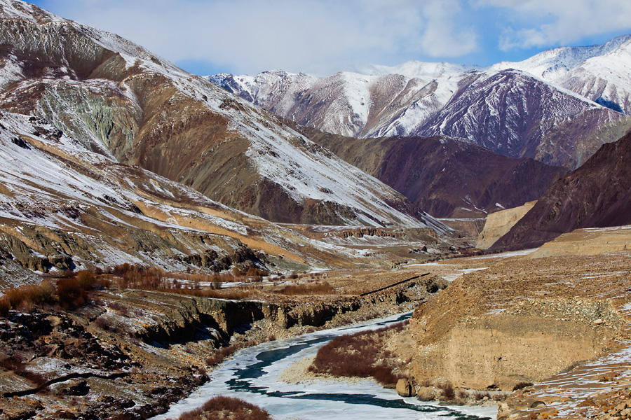Indus River in Ladakh during winter