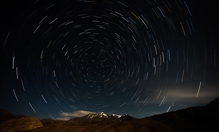 star trail at Langza Village