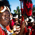 A Konyak man at Hornbill Festival in Kohima, Nagaland.