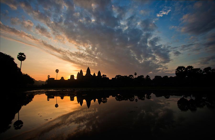 Sunrise at Angkor Wat Temple, Siem Reap