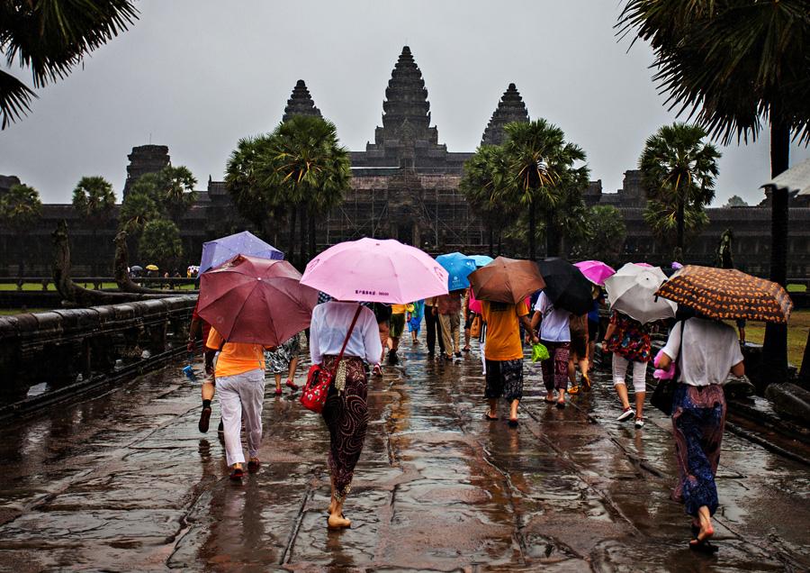 Angkor Wat in the rains