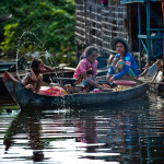 Kompong Khleang floating village on Tonle Sap Lake