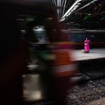Waiting for the train… at CST, Mumbai