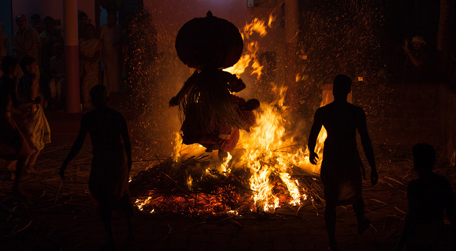 A Theyyam performance in Kerala