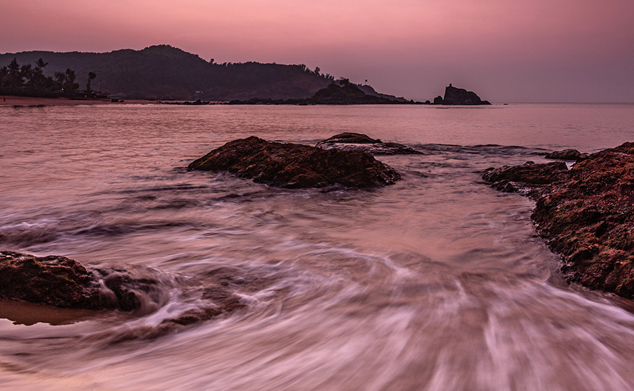 Sea and sunset - landscapes from Gokarna