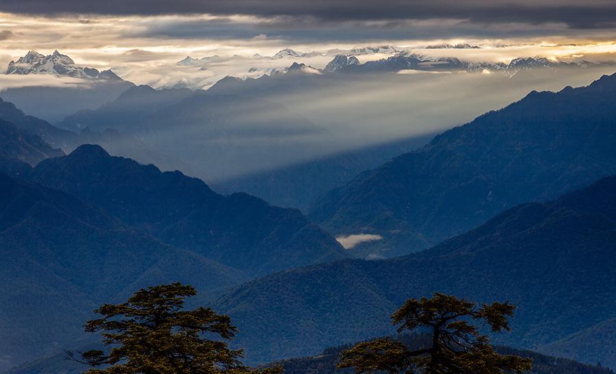 Sunrise at Dochula Pass, Bhutan