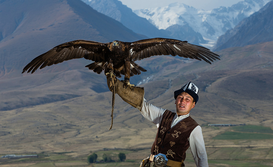 An eagle hunter from Kyrgyzstan