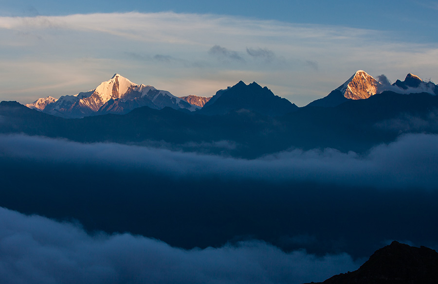 Sunrise over Nanda Kot peak, Uttarakhand